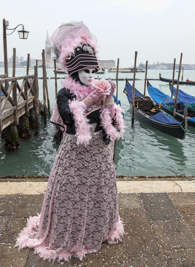 Download Venetian Costume With A Rose Editorial Image - Image: 29082510