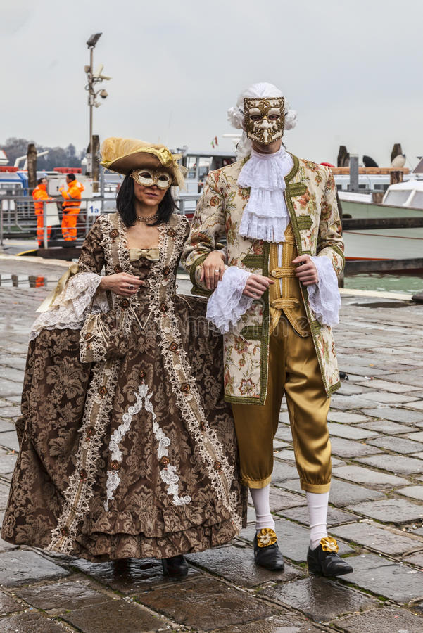 Download Venetian Couple editorial stock image. Image of mysterious - 39312384