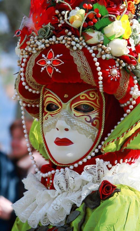 venetian färgrik maskering royaltyfri foto