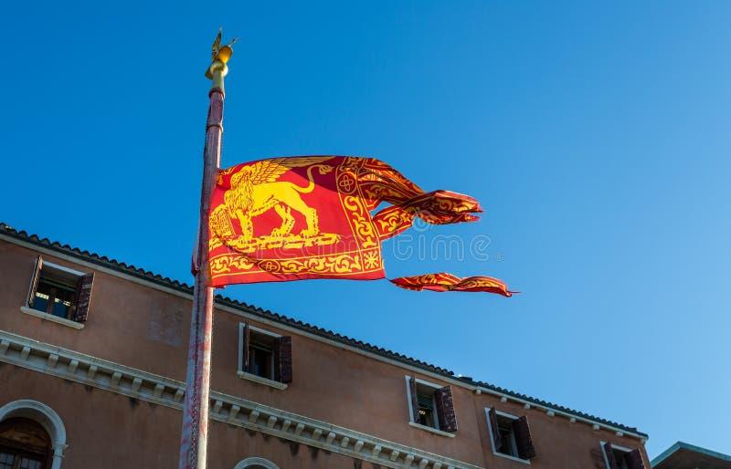Venetian flag royalty free stock photo