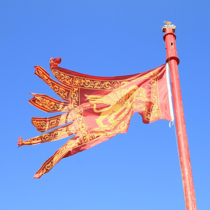 venetian flagga royaltyfri bild