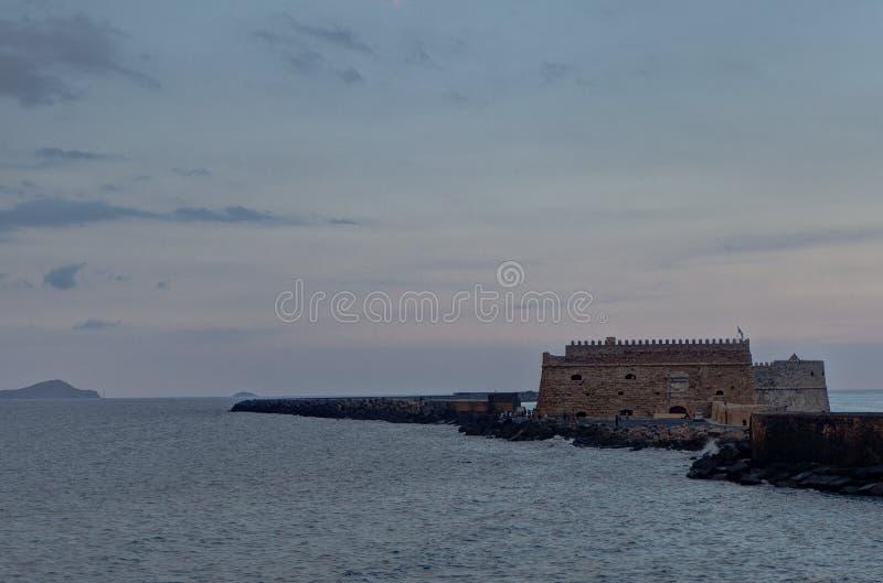 Venetian Fortress, Castle, Heraklion, Crete, Greece stock image