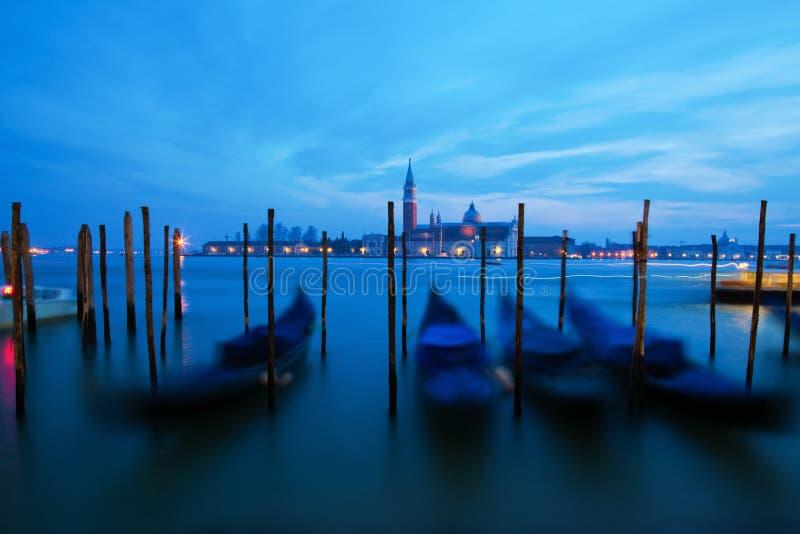 Venetian Gondolas In Motion Blur Stock Image