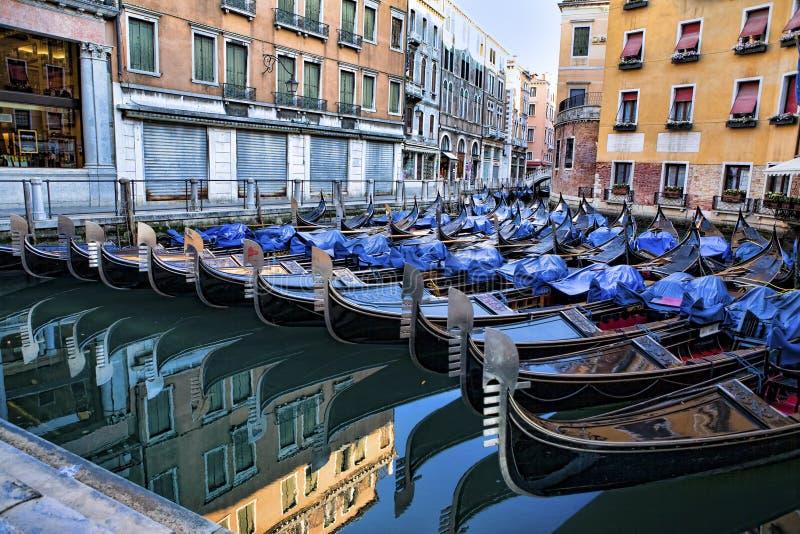 Download Venetian Gondolas At Parking Stock Photo - Image of venice, venezia: 27289536