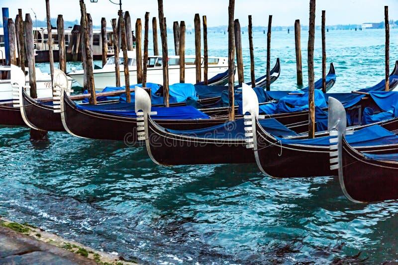 Venetian gondoler arkivfoto