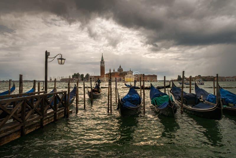 Venetian gondoler italy arkivbild