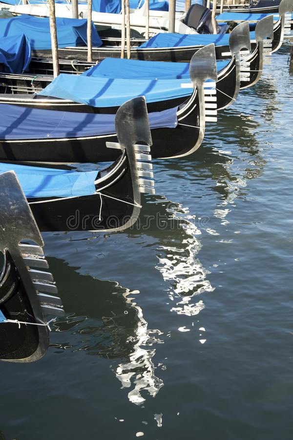 Venetian gondoler royaltyfria foton