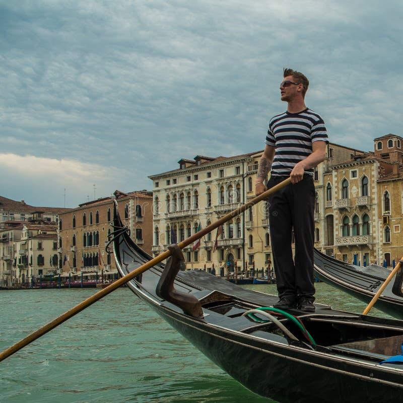Venetian Gondolier royalty free stock photos