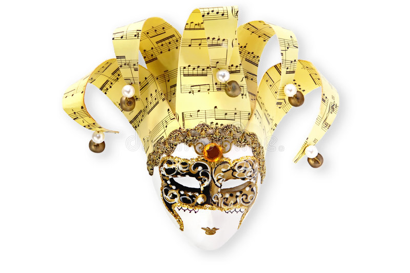 venetian guld- maskering royaltyfria foton