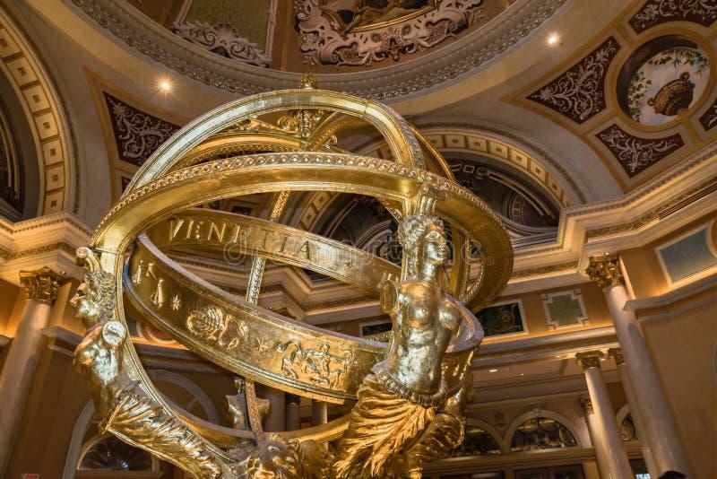 The Venetian Hotel and Casino image of indoor sculpture stock image