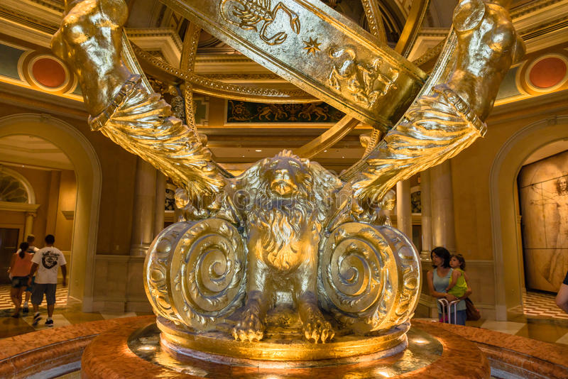 The Venetian Hotel and Casino image of indoor sculpture royalty free stock photography