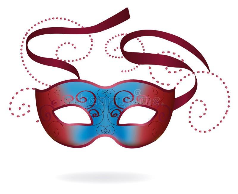 venetian karnevalmaskering stock illustrationer