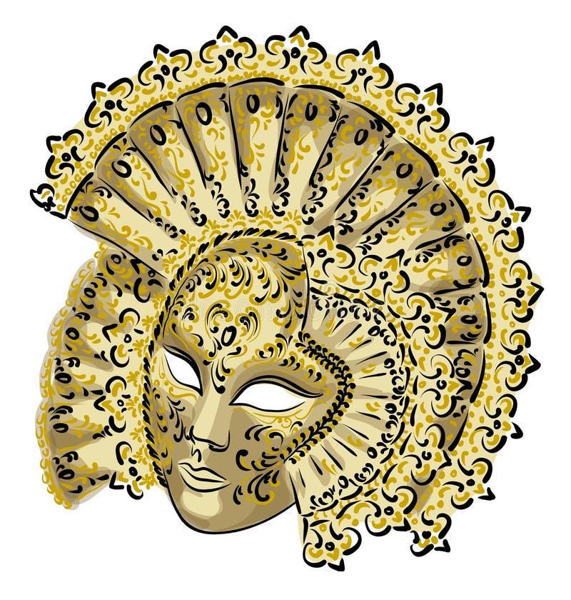 venetian karnevalmaskering vektor illustrationer