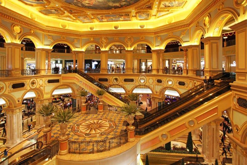 Venetian kasino i Macao royaltyfria bilder