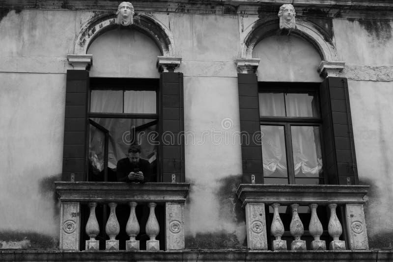 Venetian kock i ett lyxigt hotell arkivbilder