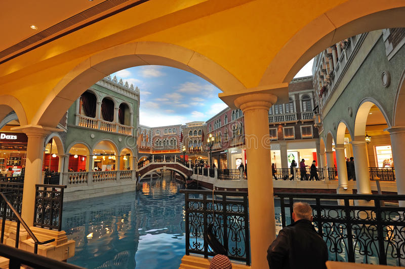 The Venetian Macao interior royalty free stock photos