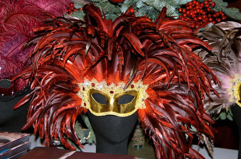 Download Venetian mask stock image. Image of feather, italy, black - 22502441