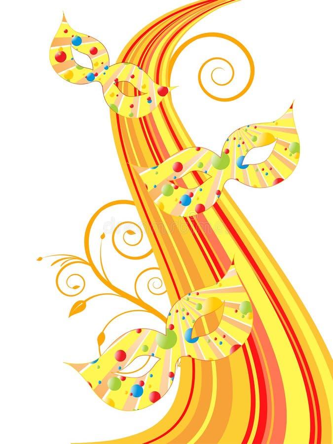 Download Venetian Mask stock illustration. Illustration of floral - 28659689