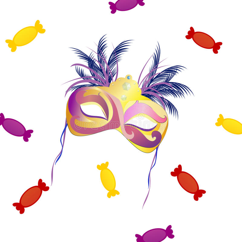 Download Venetian mask stock illustration. Illustration of feather - 29129716