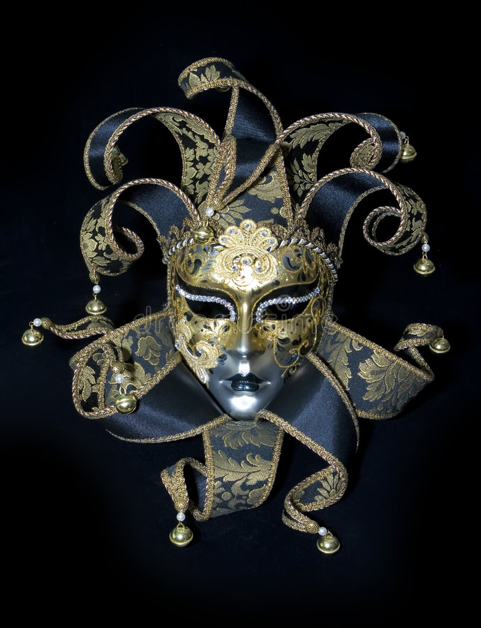 Venetian mask. On black background royalty free stock images