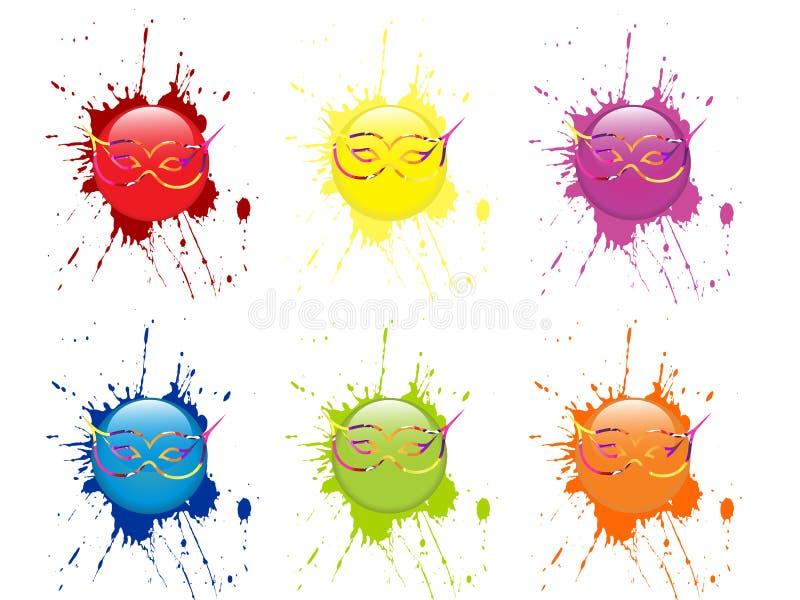 Download Venetian mask - button stock illustration. Illustration of imagination - 28660382