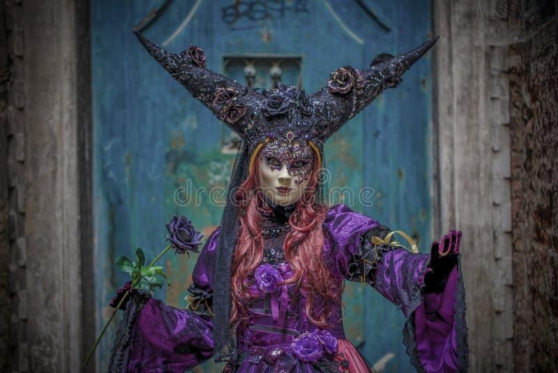 Venetian Masked Model stock photos