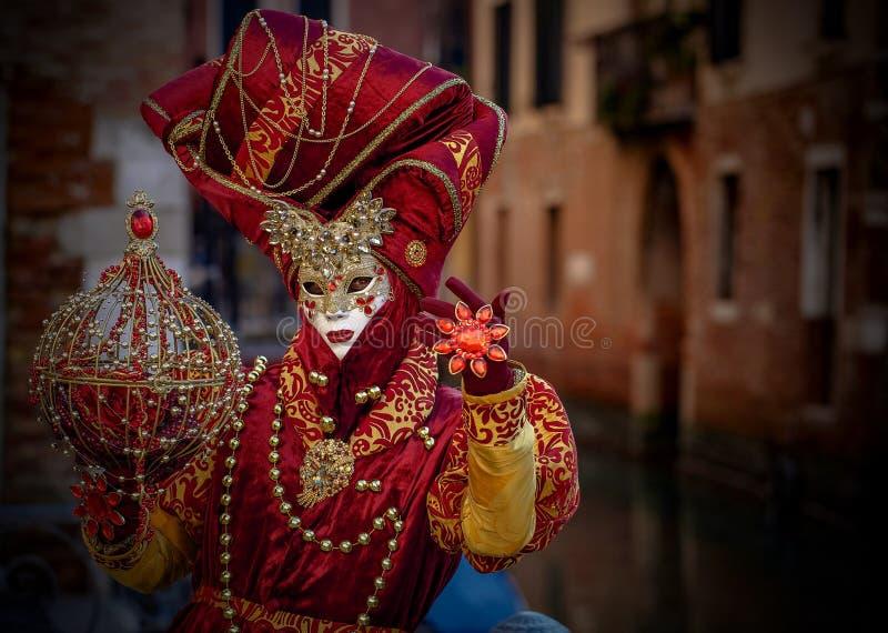Venetian Masked Model stock photography