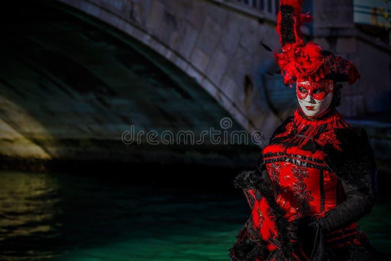 Venetian Masked Model stock image