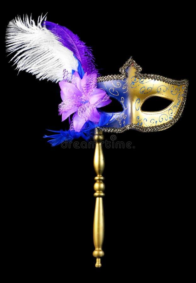 Venetian maskerad- eller mardigrasmaskering royaltyfri fotografi