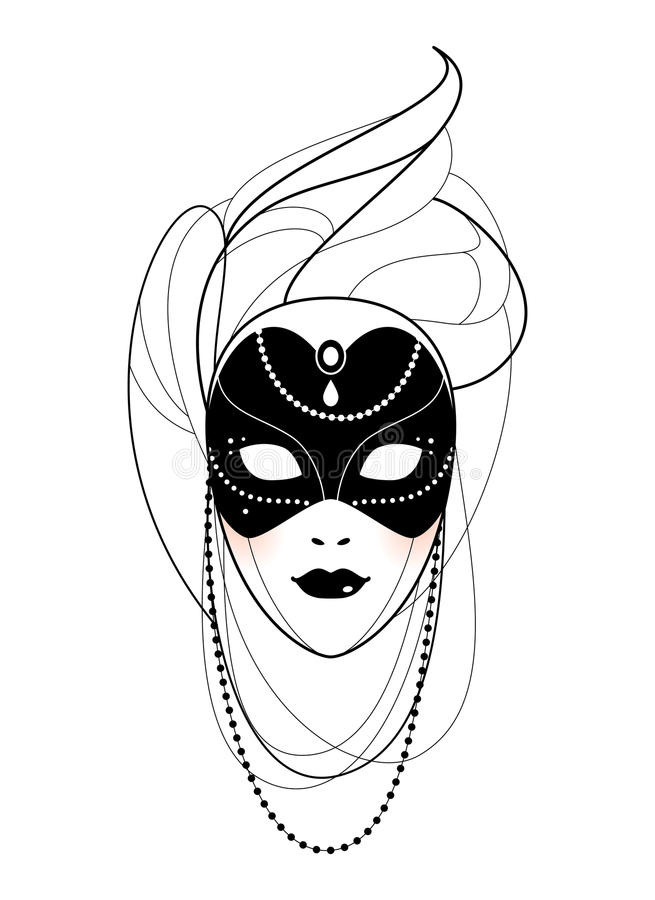 Venetian maskering stock illustrationer