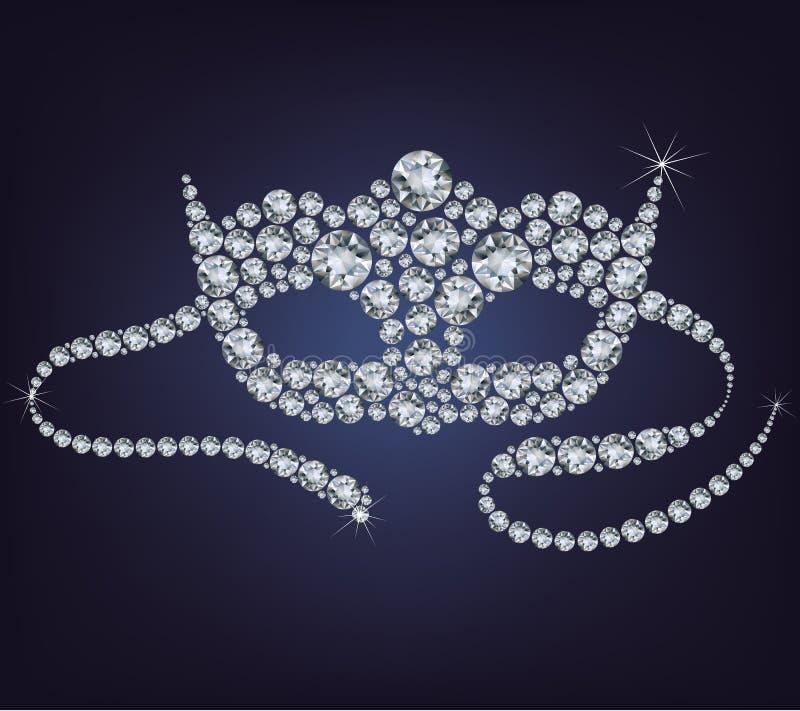 Venetian maskering som göras från diamanter. vektor illustrationer
