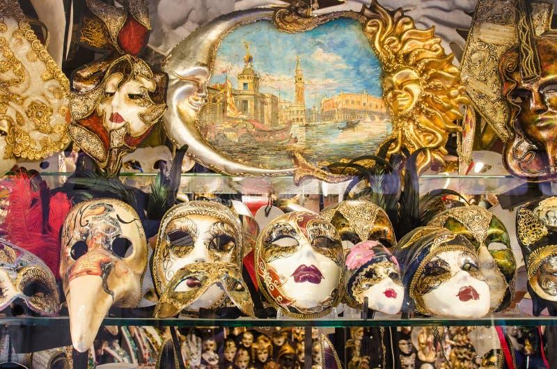 Venetian maskeringar arkivbilder