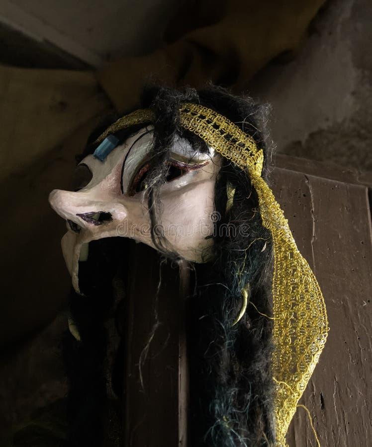 Venetian maskeringsskräck arkivfoto