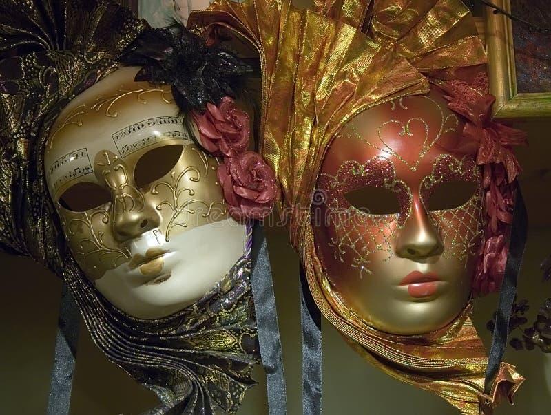 Venetian masks stock image