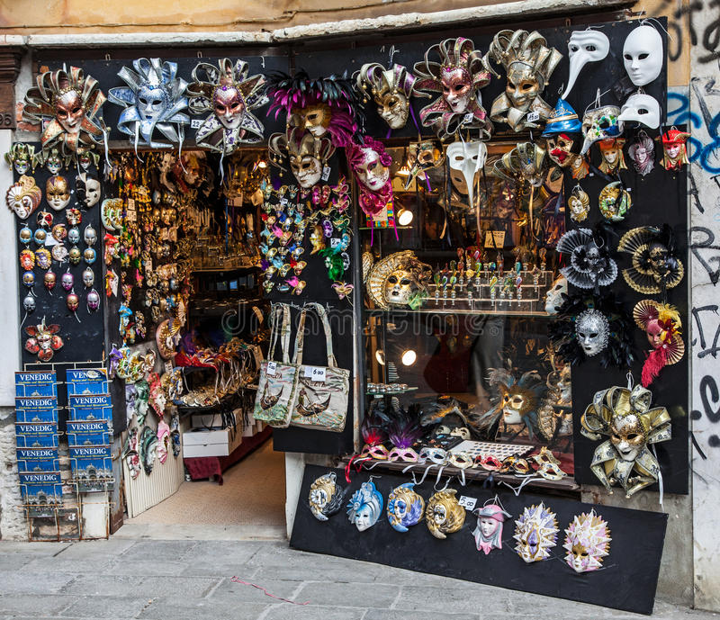 Download Venetian Masks Shop editorial stock photo. Image of shop - 26343043