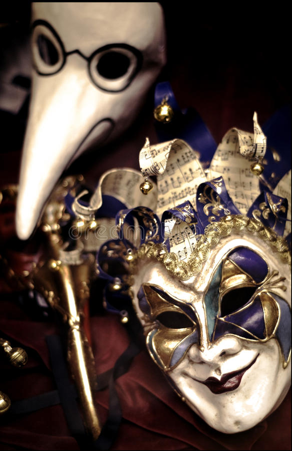 Venetian Masks stock images