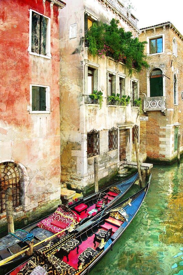 Venetian pictures vector illustration