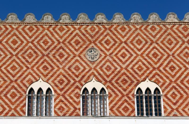 Venetian regulators slott i Rhodes, Grekland royaltyfri bild