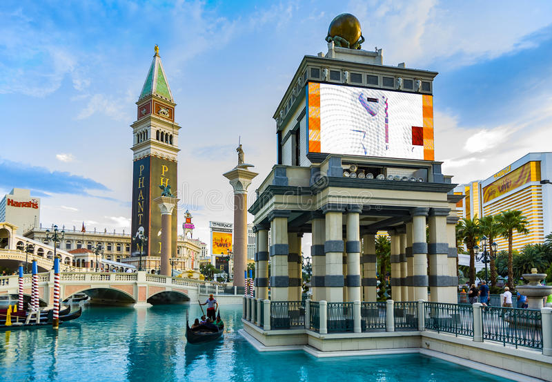 The Venetian Resort Hotel and Casino. LAS VEGAS, USA - JULY 17, 2008: The Venetian Resort Hotel and Casino opened on May 3, 1999 with flutter of white doves royalty free stock image