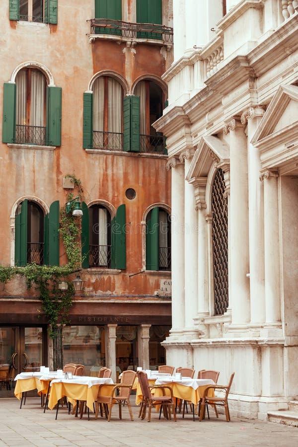 Venetian restaurant royalty free stock photo