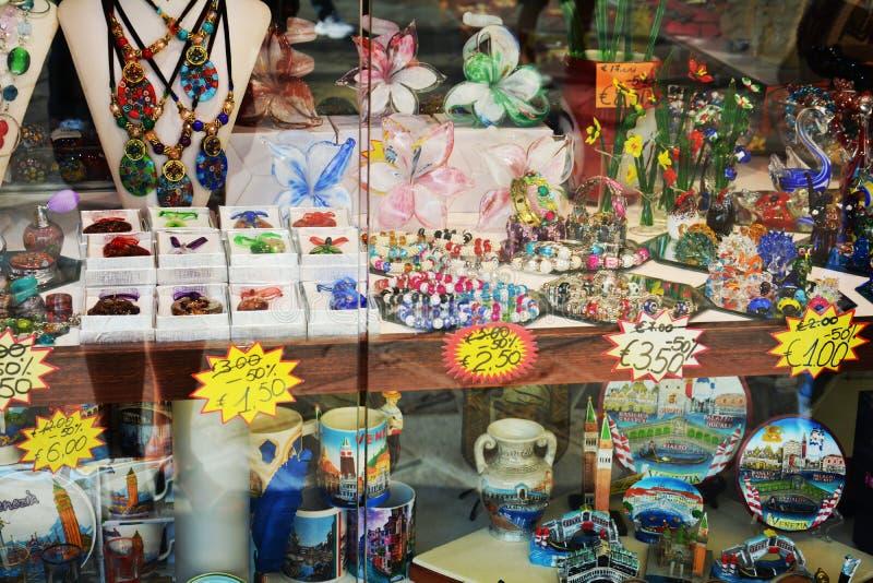 Venetian shopfront, Italy royalty free stock photo