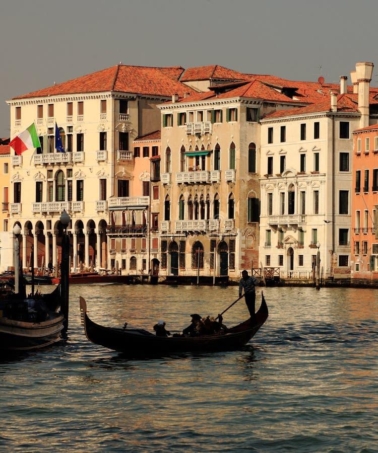 Venetian silhouettes royalty free stock photo