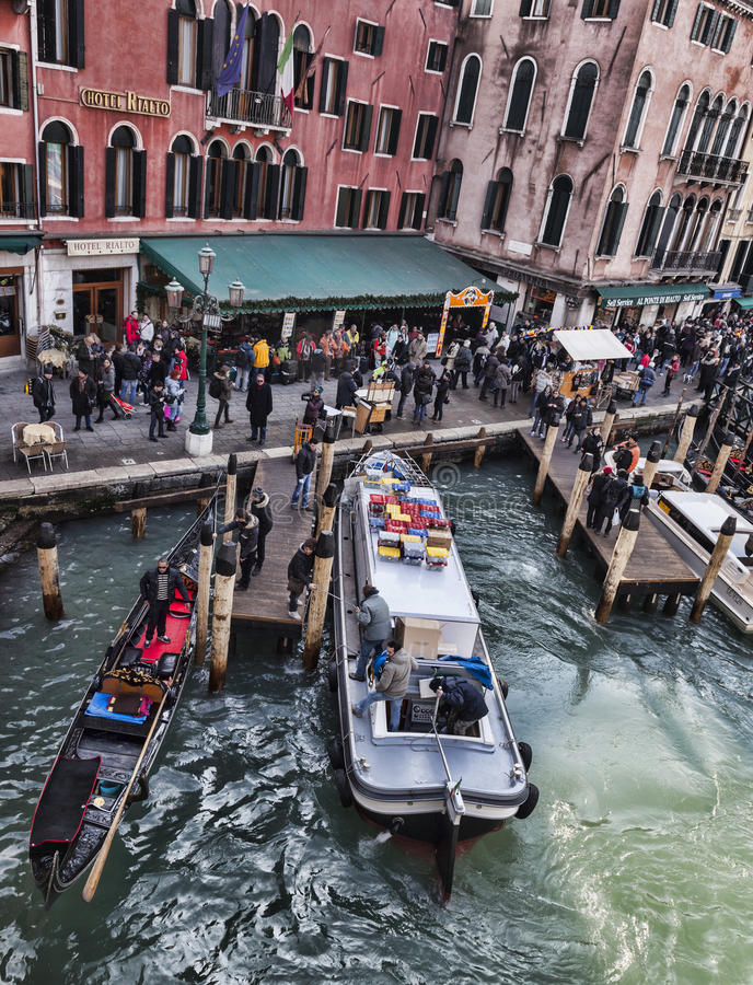 Venetian Skeppsdocka Redaktionell Foto