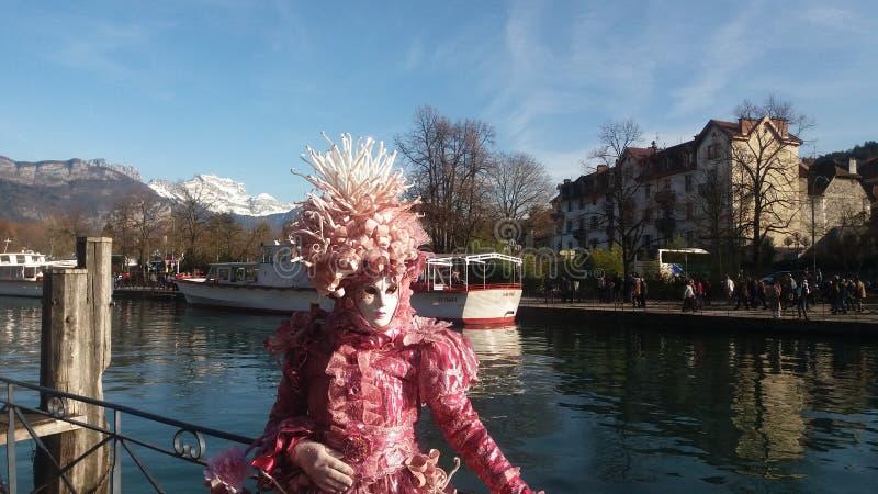 Venetian ståta av Annecy fotografering för bildbyråer
