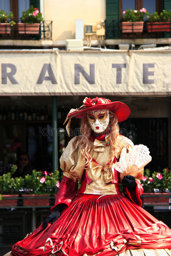 Venetian street performer royalty free stock photos