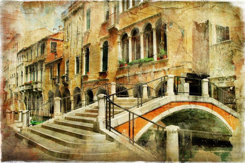 Download Venetian streets stock photo. Image of artwork, retro - 26648474