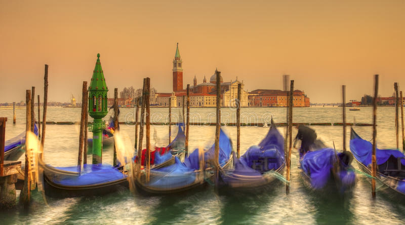 Venetian sunset royalty free stock photography