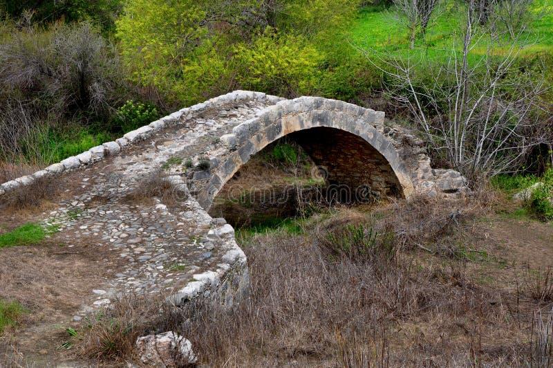 Venetian 15th århundradebro i Cypern fotografering för bildbyråer