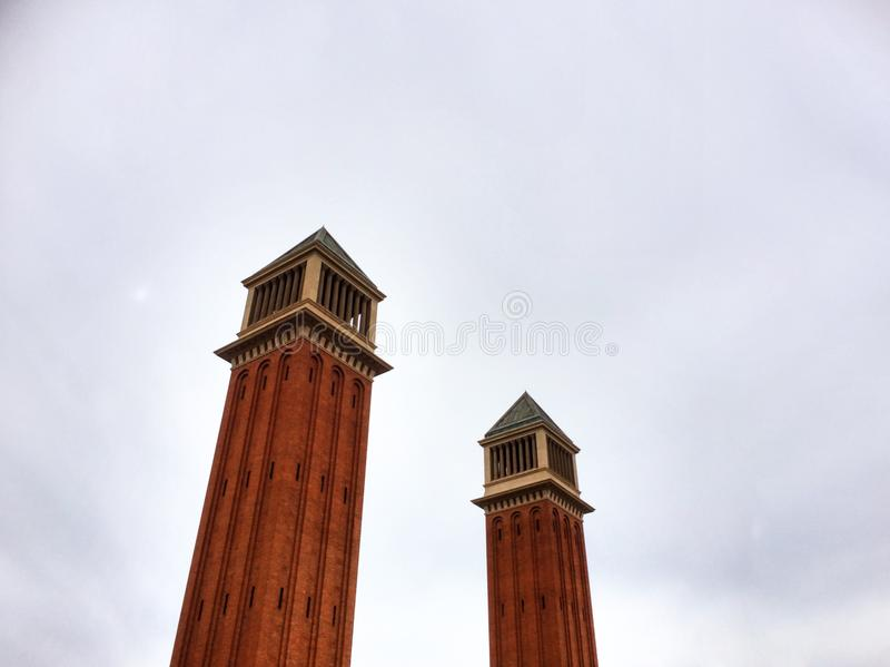 Venetian torn, Plaza de España royaltyfria bilder