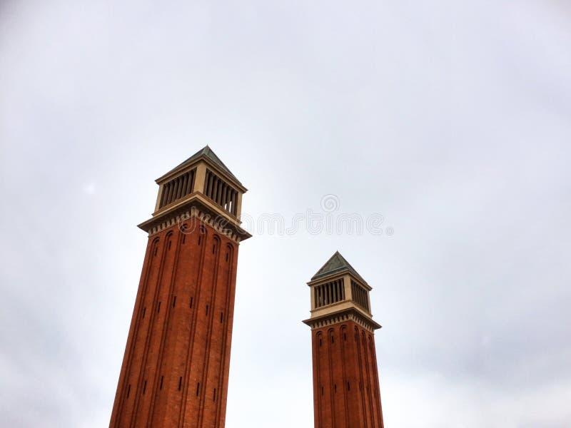 Venetian towers, Plaza de España royalty free stock images